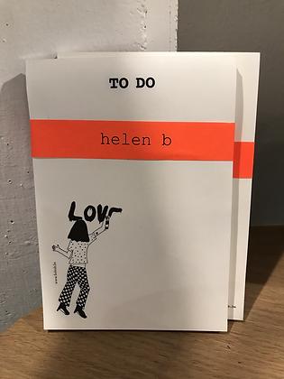 Carnet to do list Love de Helen B.