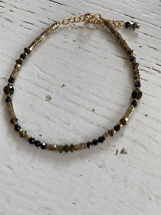 Bracelet hématite et onyx noir