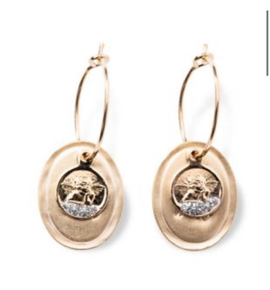 Boucles d'oreilles lucky anges Lsonge