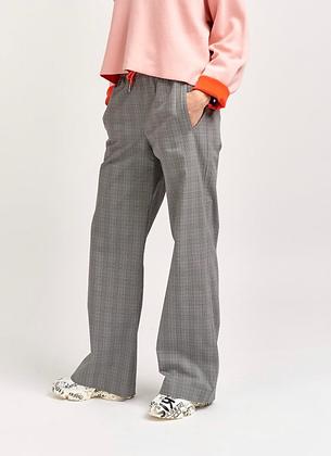 Pantalon coupe large , carreaux , taille réglable