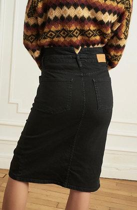 Jupe taille haute Jean noir