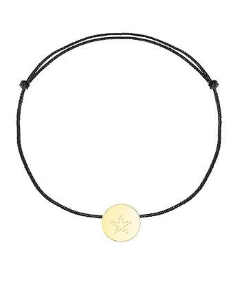 Bracelet cordon noir symbole au choix