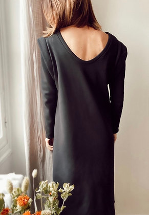 Robe sweat Alice noire