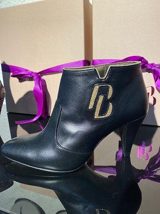 Boots Felson noir et or glitter