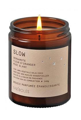 Bougie Slow : bergamote , fleur d'oranger , musc blanc
