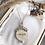 Thumbnail: Collier chaîne avec médaille amour doré à l'or 18K , avec zirconiums
