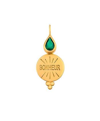 Médaille or 18 carat bonheur