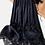 Thumbnail: Jupe noire coton , dentelle noire