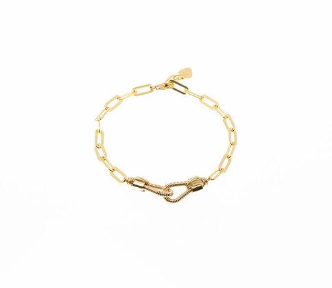 Bracelet gros maillons avec menottes
