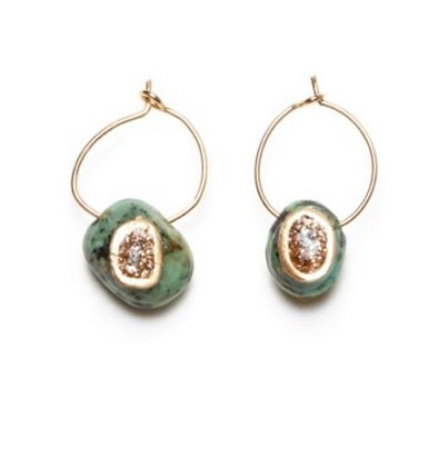 Petites creoles turquoises Lsonge
