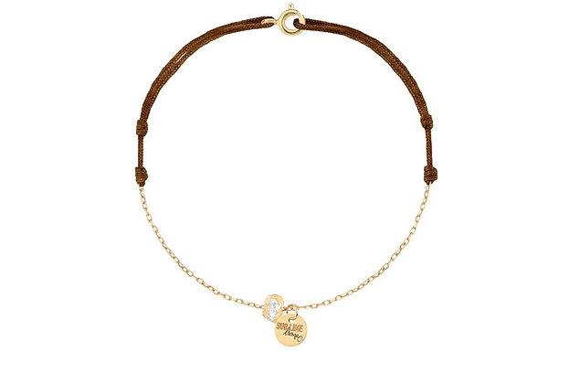 Bracelet chaîne cordon pépites lsonge