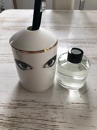 Diffuseur parfum, porcelaine , yeux , rechargeable