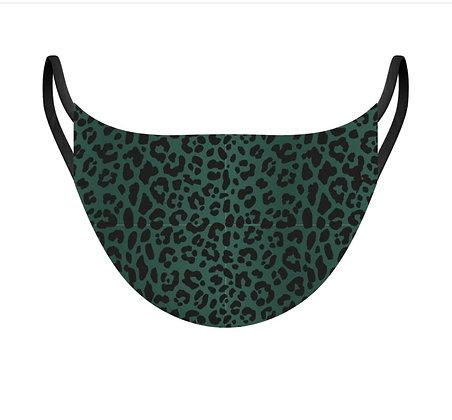 Masque léopard vert et noir