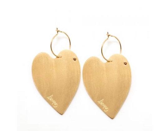 Boucles d'oreilles cœur XL Lsonge