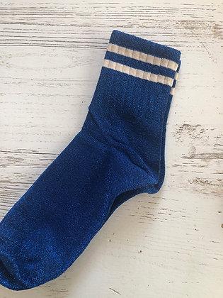Chaussettes glitter bleu 36/40