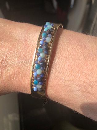 Bracelet pièce unique , pierres semi précieuses