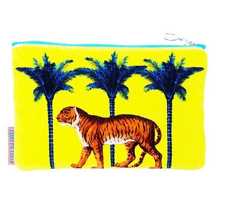 Pochette velours tigre