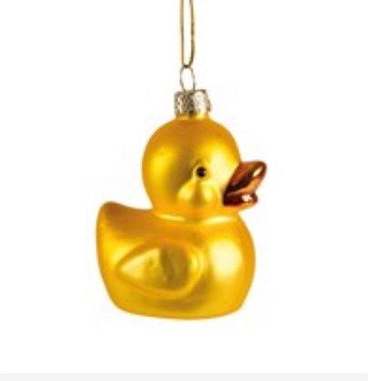 Décoration noël petit canard or