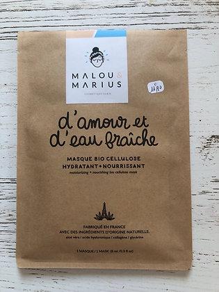 Masque bio d'amour et d'eau fraîche Malou et Marius