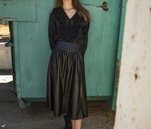 Blouse noire coton