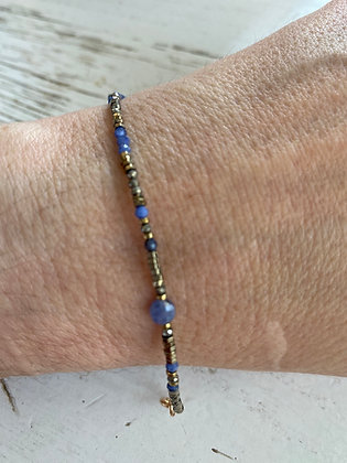 Bracelet hématite et lapis-lazuli