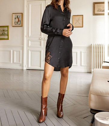 Robe chemise noire Bel Air