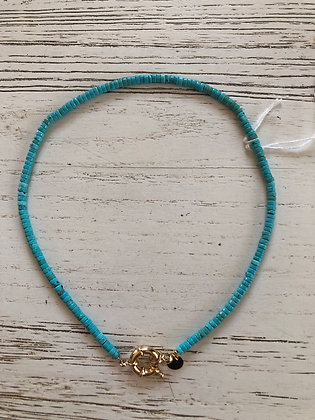 Collier été turquoise , made in France