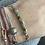 Thumbnail: Bracelet plaque or , rondelles pierres semi précieuses au choix