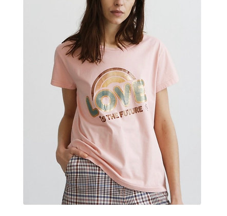 Teeshirt love rose coton bio