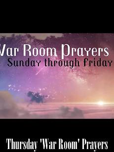 Thursday 'War Room' Prayers