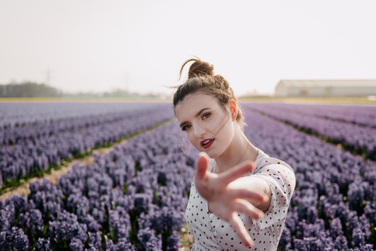 Hyacinth field Photoshoot