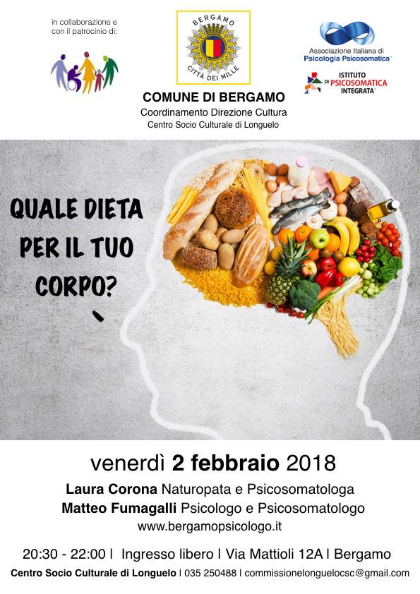 Quale dieta per il tuo corpo | 2 febbraio 2018