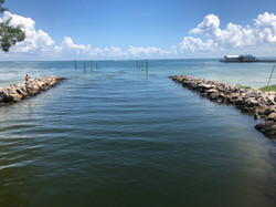 The inland waterway entrance next to Anna Maria City Pier