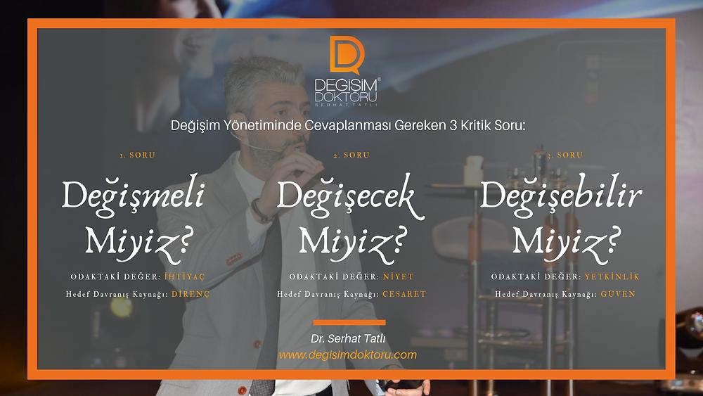 Dr. Serhat Tatlı Değişim yönetiminde 3 kritik soru