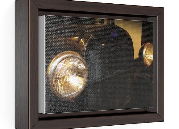 Horizontal Framed Premium Gallery Wrap Canvas - Poppy Car 02