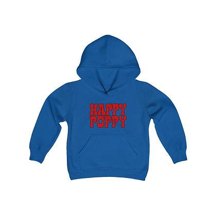 Youth Heavy Blend Hoodie - Happy Poppy Design 01