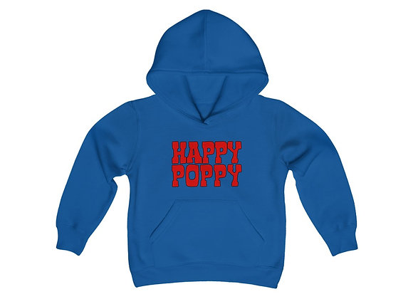 Youth Heavy Blend Hoodie - Happy Poppy Design 01