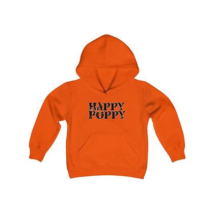 Youth Heavy Blend Hoodie - Happy Poppy Design 02 Black