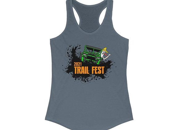 Women's Ideal Racerback Tank - Trail Fest Design 02