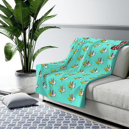 Sherpa Fleece Blanket - Poppy Mtn Design 07