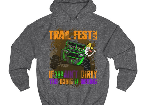 Unisex College Hoodie - Trail Fest Design 04 2 Sided Print
