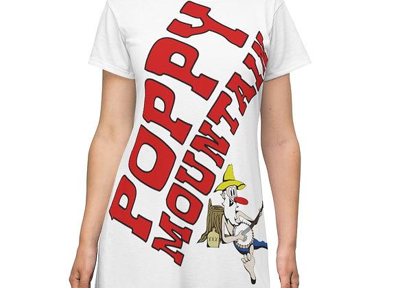Women's T-Shirt Dress - Poppy Mountain