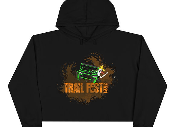 Crop Hoodie 2 Sided Print - Trail Fest Design 03