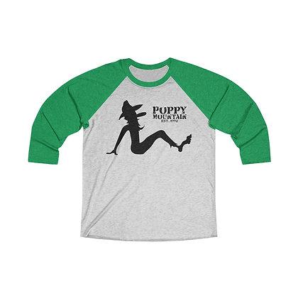 Unisex Baseball Tee - Poppy Mud Flap Black