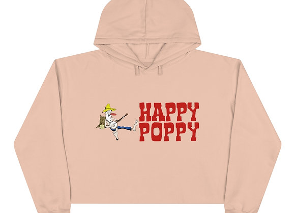 Crop Hoodie - Happy Poppy Design 02