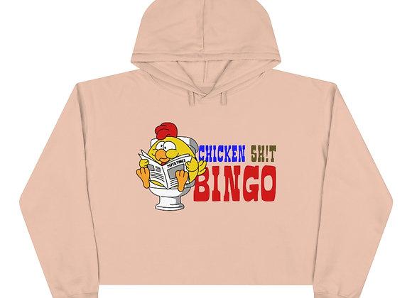 Crop Hoodie - Chicken Sh!t Bingo
