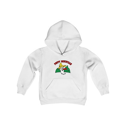 Youth Heavy Blend Hoodie - Poppy Mtn Design 01 2 Sided Print