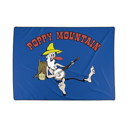 Polyester Blanket - Poppy Mtn Design 02 Navy Blue