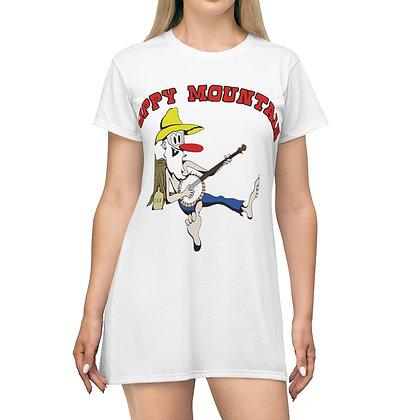 Women's T-Shirt Dress - Poppy Mtn Design 02