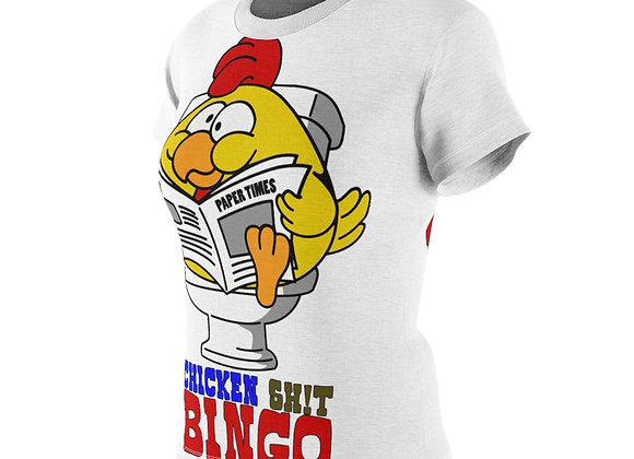Women's AOP Cut & Sew Tee - Chicken Sh!t Bingo 2 Sided Print